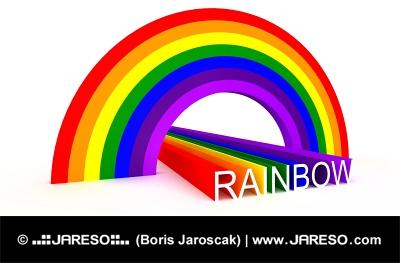 Farby dúhy s anglickým hláskovaním