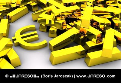 Zlaté tehly a symbol EURA