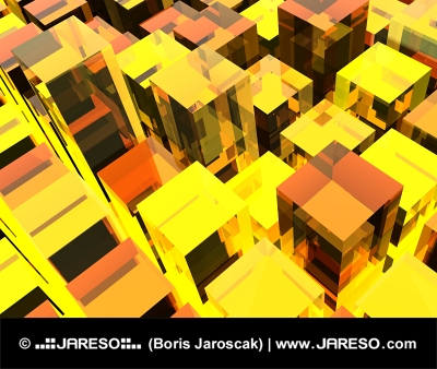 Žlté kubické pozadie