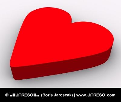 Červené srdce na bielom pozadí