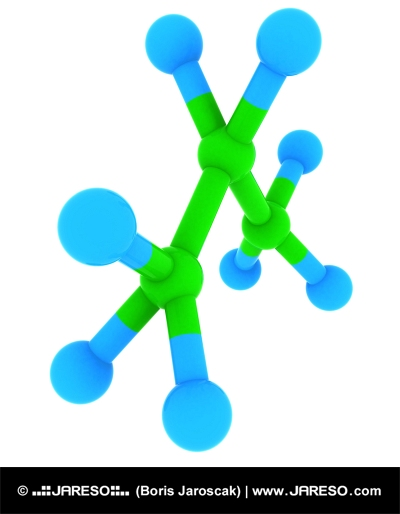 Propán (C3H8 Molekula)