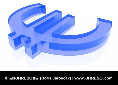 EURO z modrého skla