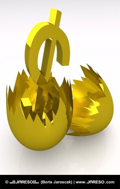 Zlaté vajce a symbol DOLÁRA